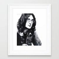 jon contino Framed Art Prints featuring Jon by Bethany Duvall