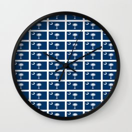 flag of south carolina 2-Savannah,Palmetto,Carolinian,Cotton,South,South carolina,Carolina Wall Clock