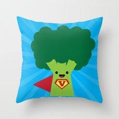 Super Broccoli Throw Pillow
