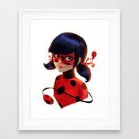 ladybug Framed Art Prints featuring Ladybug by ChrySsV