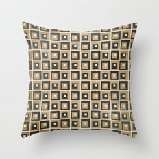 Retro Squares Throw Pillow