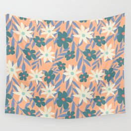 Just Peachy Floral Wall Tapestry