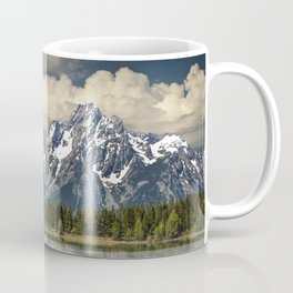 Tree Stump on the Northern Shore of Jackson Lake at Grand Teton National Park Coffee Mug