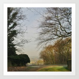 Church Lane, Harewood Art Print