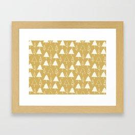 Christmas Tree Beige Framed Art Print