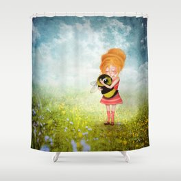 Bee Whisperer - Save the Bees Shower Curtain