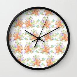 Tropical Leilee Hawaiian Flower Print Wall Clock