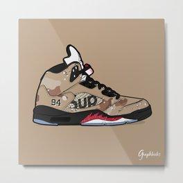 """Air Jordan V """"Supreme"""" camo Metal Print"""