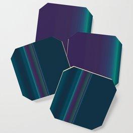 Royal Purple Aqua Stripes Coaster