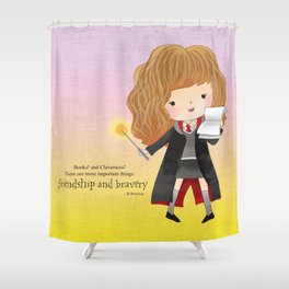 Friendship and bravery Shower Curtain