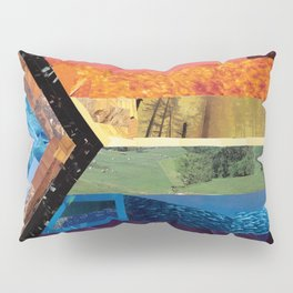 Progress Pride Flag Collage Pillow Sham