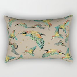 The Birds and the bees pattern on sand Rectangular Pillow