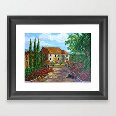 Tuscany with Cats Framed Art Print