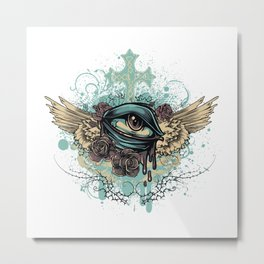 Bleeding Eye Metal Print