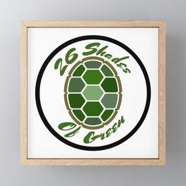 26ShadesofGreen Logo Framed Mini Art Print