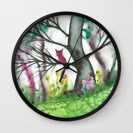 Padua Whimsical Cat Wall Clock