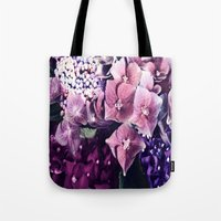 hydrangea Tote Bags featuring Hydrangea  by Truly Juel
