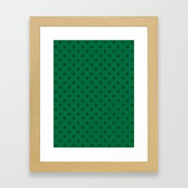 Black on Cadmium Green Snowflakes Framed Art Print