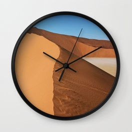 On the dunes of the Namib, Namibia Wall Clock