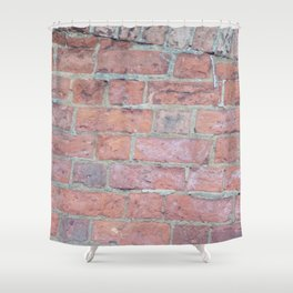 Red Brick Texture Shower Curtain