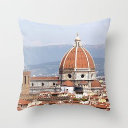 Florence cathedral dome photography Throw Pillow