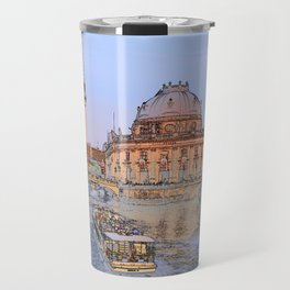Berlin Spree Bode Museum and Alexander tower Travel Mug