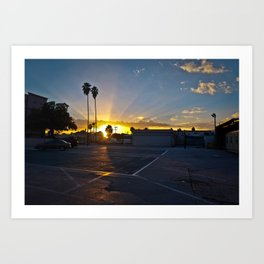 urban sunset Art Print