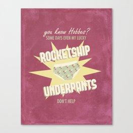 Lucky Rocketship Underpants Canvas Print