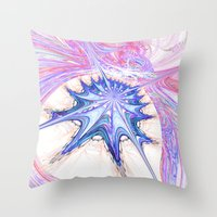seashell Throw Pillows featuring seashell by haroulita