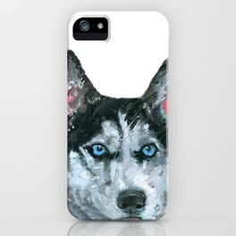 Husky printed from an original painting by Jiri Bures iPhone Case