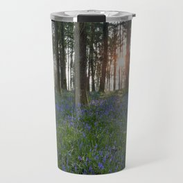 Sunlit Bluebell Woods Travel Mug