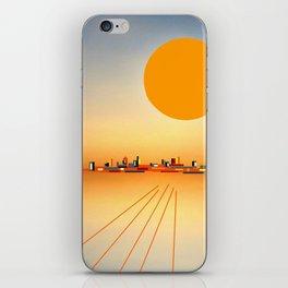 Horizon Sunset Orange Blue iPhone Skin