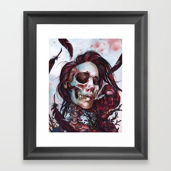 Queen of Ravens Framed Art Print