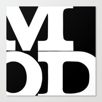 mod Canvas Prints featuring mod by bobbybard