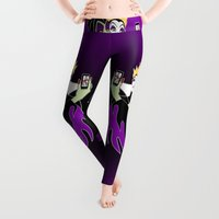 facebook Leggings featuring Grimhilde & Maleficent Selfie by SwanStarDesigns