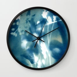 Fragments of the Past (13), art print, collage, blue print, wall art, wall decor, home decor Wall Clock