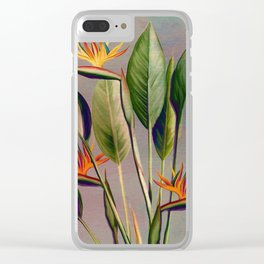Flamingo Day Clear iPhone Case