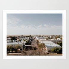 Marfa, Texas Overview Art Print