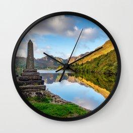Crafnant Lake Obelisk Wall Clock