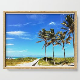 Palm Trees Caribbean Ocean Serving Tray