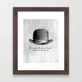 Waiting for Godot - We Are All Born Mad Framed Art Print