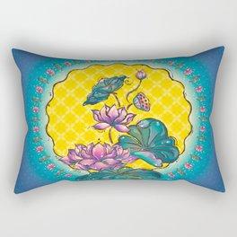 Peranakan Lotus Rectangular Pillow