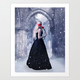 A Kiss From A Rose Art Print