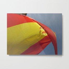 Spanish Flag Metal Print