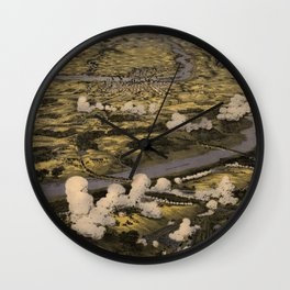 Vintage Richmond VA Civil War Battlefields Map (1862) Wall Clock