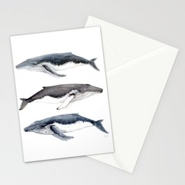Humpback whales Stationery Cards