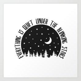 Under the Blinking Stars Art Print