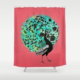 Neon Peacock Shower Curtain