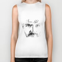 neil gaiman Biker Tanks featuring Simon Neil - Biffy Clyro  by McFREE