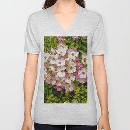 Floral Print 037 Unisex V-Neck